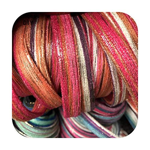 Ribbons 5 M/Lot Joyería Haciendo Findings Cord 10Mm Cinta de Terciopelo Rojo Brillante de Seda Multico Cuerda Sesgo DIY Pulsera Chocker Collar Artesanía