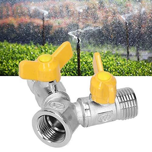 minifinker Adaptador de Cobre Amarillo del Grifo, Adaptador de Cobre Amarillo del Grifo de la válvula de Bola de la construcción para regar