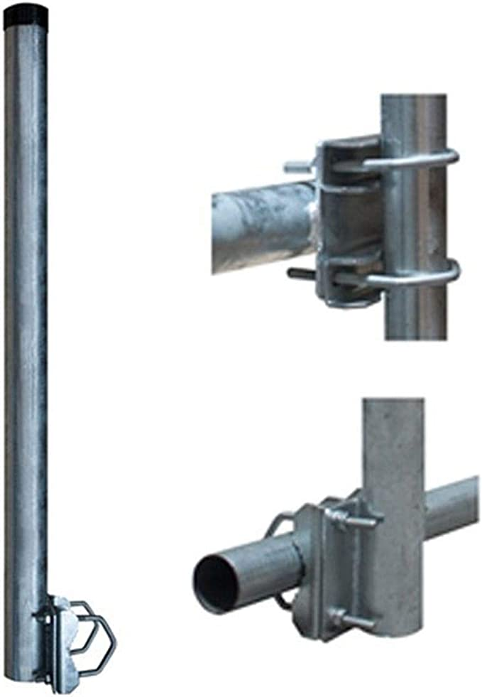 Premiumx Balkon Halter 50cm Ø 60mm Stahl Mast Elektronik