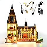 GEAMENT Bricks Light Set for Harry Potter Hogwarts Great Hall Building Blocks Model Compatible with Lego 75954 (Lego Kit Not Included)