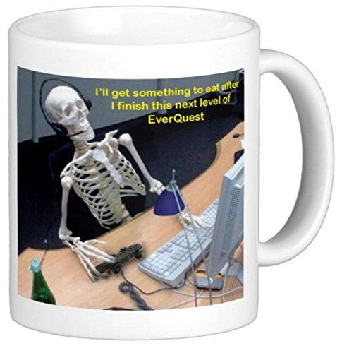 Everquest 11 Ounce Coffee Mug Humoroius Skeleton Funny by The Image Shark