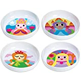 French Bull - BPA-freie Kinderschalen – Melamin Kinderschüssel-Set – Kindergeschirr – Prinzessin, 4er-Set