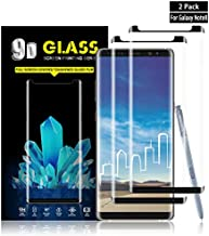 Galaxy Note 8 Screen Protector By YEYEBF, [2 Pack] Full Coverage Tempered Glass Screen Protector [9H Hardness] [3D Touch] [Bubble-Free] Screen Protector Glass For Samsung Galaxy Note 8