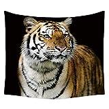 N/ A Tigre Tapisserie TissuTentureMurale Serviette de Plage Blanc Bengale TigreSauvage Zoo Tapisserie Décorations pour Chambre Salon Dortoir