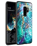 BENTOBEN Funda Samsung s9 Plus, Carcasa Samsung Galaxy s9 Plus Cover Ultra Delgada Mandala Luminosa Resistente Silicona Suave PC Dura Protectora Completa Fundas para Samsung Galaxy s9 Plus-Mandala