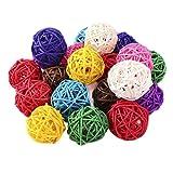 Toyvian 40 bolas de ratán vikingo para rellenar jarrones, bolas decorativas, bolas de aromaterapia, bolas de 3 cm
