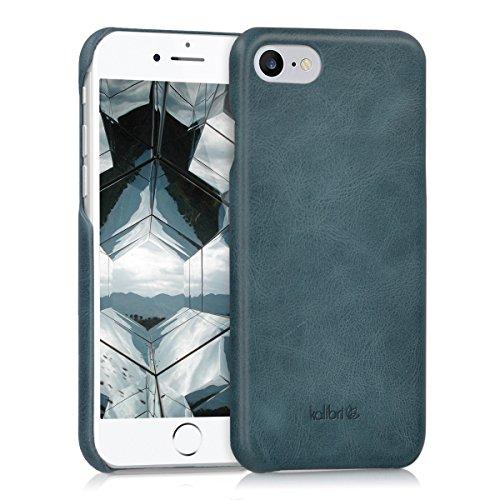 kalibri Schutzhülle kompatibel mit Apple iPhone 7/8 / SE (2020) - Hülle Leder - Hardcover Handy Cover Hülle Dunkelblau