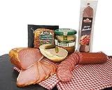 Wurstpaket Oberlausitz | Edel Salami geräucherter Schinken am Stück | Jagdwurst im Glas | verfügbar als Geschenk (Jagdwurst)