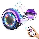 GEARSTONE Hoverboard monopatín con Bluetooth e iluminación LED...