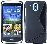 ENERGMiX S-Line TPU SchutzHülle kompatibel mit HTC Desire 526G Silikon Hülle in Schwarz