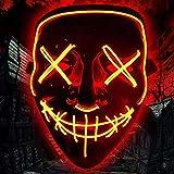 BESTZY Halloween la Maschere,LED Light Up Maschera,Maschere per...