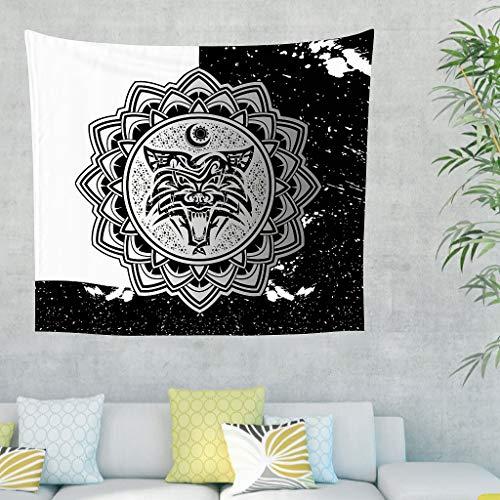 NiTIAN Tapisserie Wand aufhängen Bed Sheet Throw Bedspread, Home Dekor für Wand Schlafzimmer Wohnzimmer Decor White 200x150cm