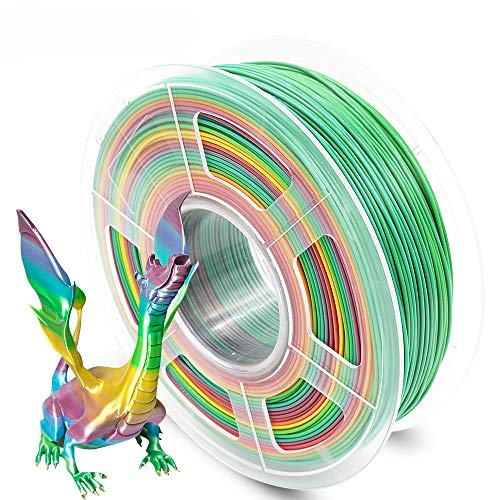 AnKun Pla Filament 1.75mm,Rainbow PLA 3D Printing Filament for 3D printer and 3D Pen, Dimensional Accuracy +/- 0.02mm, 1kg 1 Spool