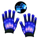 KITY 3-12 Jährige Jungen Spielzeug,Handschuhe LED Jungen Geschenke 4-10 Jahre Skelett Beleuchtung Blinkt Finger Begeisterte Spielzeug 2019 Verbessert Auflage Maskerade(Blau)