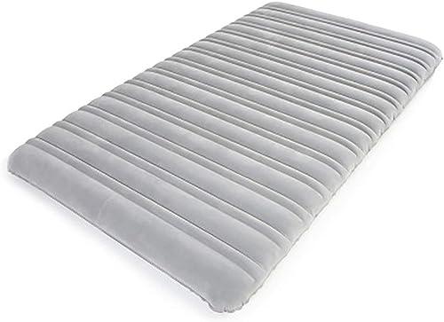 Zjcqc Lit Gonflable de Voiture extérieure, lit Paresseux d'air de Tente de déjeuner portatif à la Maison Unique Plus épais, gris