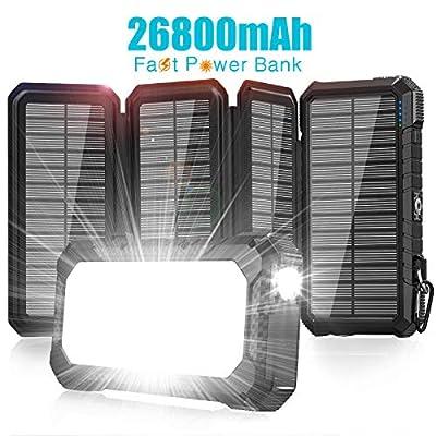 Solar Charger 26800mAh-Power Bank,18W QC3.0 Fas...