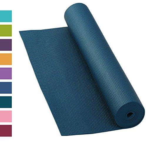 Yogamat, mat ASANA, antislip, 183 x 60 cm, 4 mm PVC, goede yogamat, niet alleen voor beginners, sticky mat, gymnastiekmat, ftalaatvrij, vrij van schadelijke stoffen