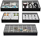 Magic Stackable Jewelry Trays Closet Dresser Drawer Organizer for Accessories, Gadgets & C...