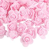 VINFUTUR 200 Pz Rose Artificiali Rose Finte Schiuma Fiori Artificiali per Bouquet da Sposa DIY Matrimoni Valentine's Day Decorazioni di Festa Casa Nozze