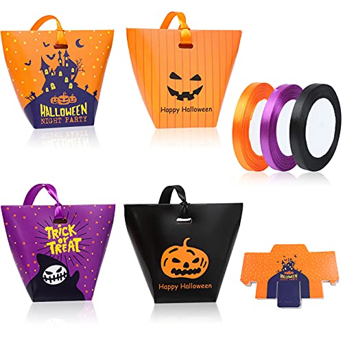 Uoeo 40 Pack Halloween Treat Bags Halloween Trick or Treat Gift Bags Halloween Candy Goodie Bags Halloween Treat Bags Party Favor Bags Halloween Party Decorations Supplies