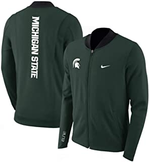 Nike Men's Dry Elite Green Dri Fit Michigan State Spartans Showtime Full Zip Jacket