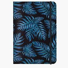 Cedon Anteckningsbok A5 snyggt mönster Philodendron blå