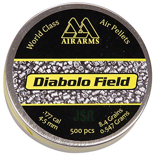 Air Arms Diabolo Field .177 Cal, 4.52mm, 8.44 Grains, Domed, 500ct