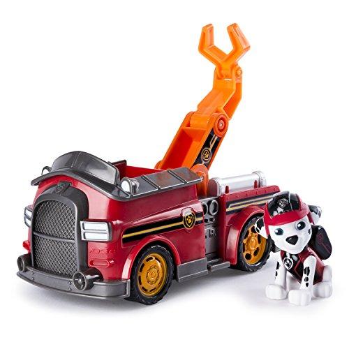 PAW PATROL 6037967Figurine de Marcus de la Pat'Patrouille avec Son Camion de Pompier