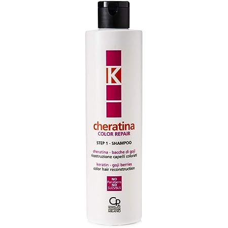 K-Cheratina - Color Repair Shampoo con Cheratina - Ricostruzione a Base di Cheratina per Capelli Colorati e Decolorati - Formula Arricchita con Estratto di Bacche di Goji - Step 1 - Flacone da 250 ml