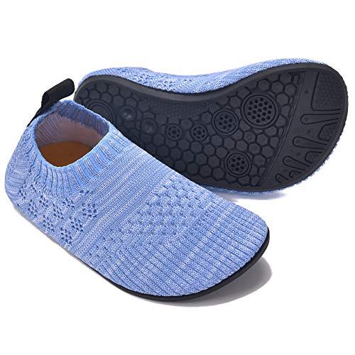 MARITONY Kinder Hausschuhe Mädchen Jungen Anti-Rutsch Leichte Sohle Kleinkinder Schuhe Baby Slipper Unisex,Blau,25EU