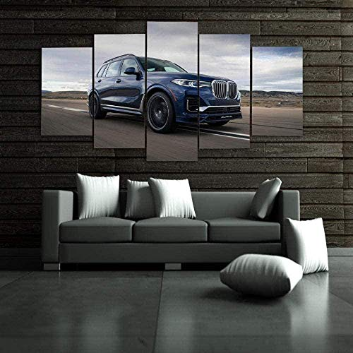 5 Piezas Lienzos Cuadros Pinturas X7 SUV Cars Carretera Nubes Cuadros Modernos Impresión Imagen Artística El Arte De La Pared del Hogar Salón Oficina Mordern Decoración Sin Marco