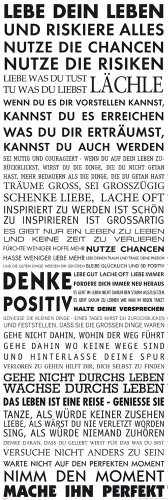 empireposter Motivational - Lebe Dein Leben Motivations Tür Poster Plakat Druck - Grösse 53x158 cm