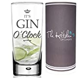 GIN GLASS - Gin & Tonic HighBall Glass & Gift Tube Set - A Funny Novelty G&T Gift For Any Gin Lover