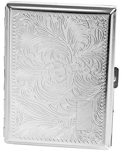 Evil Wear Premium Zigaretten-Etui Zigarettenbox Zigarettenschachtel in Satiniert Silber-Farben für 20 Zigaretten #1