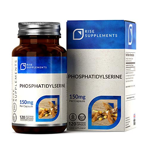 Phosphatidylserine [20%] 150mg (from Soy) | 120 Vegan Capsules | Made in The UK - Non-GMO || Rise Supplements