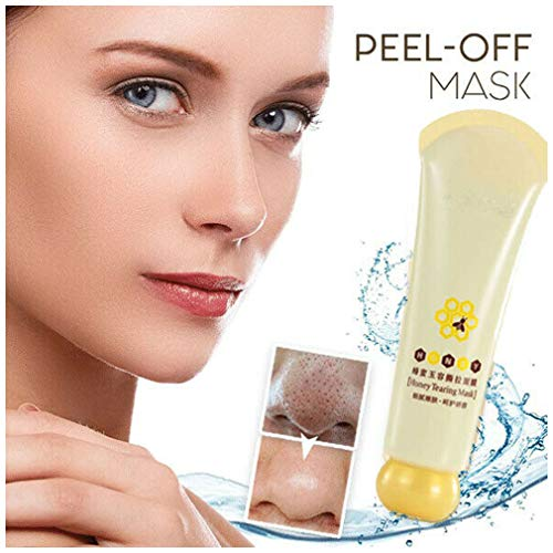 HAZUN Peel-Off Brushed Mask - Remover Mask - Honey Mask - Deep Cleansing Blackhead Peel Off Mask - Máscara de espinilla