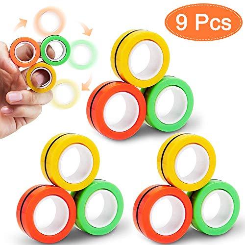 Anelli magnetici giocattolo, Magnetic Rings, giocattoli professionali di decompressione, Festival Performance Training di terapia con le dita per alleviare l'ansia e l'autismo dell'ADHD (3)