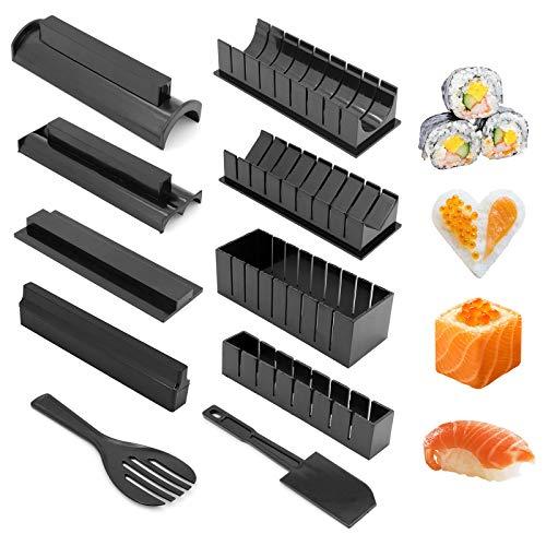 Gearific Sushi Making Kit, 15 Pezzi Sushi Maker Tools Stampo per Rotoli di Riso Strumento per Sushi Domestico Fai-da-Te