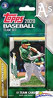 Oakland Athletics 2020 Topps Baseball EXCLUSIVE Special Limited Edition 17 Card Complete Factory Sealed Team Set with Marc...