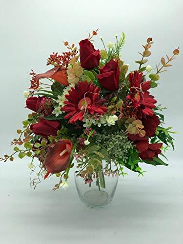 artificial floral centerpiece, silk flower arrangement