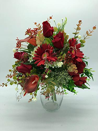 artificial floral centerpiece, silk flower arrangement