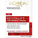 L'Oreal Paris Skincare Revitalift Anti-Wrinkle and Firming Face and Neck Moisturizer with...