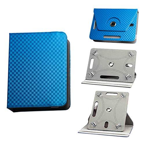 BEISK, Funda Universal para Tablet de 10-10.1 Pulgadas, con Sistema Giratorio de 360º, Rotación, Protección, con Soporte, para Huawei Mediapad/Samsung Galaxy Tab/iPad/Lenovo TAB4 10, Etc. Color Azul…
