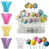 FiYenn 100 X Cake Pop Sticks 15 cm, colori pastello, Kitchenaid Craft, Carta Steli per torta - 5 colori