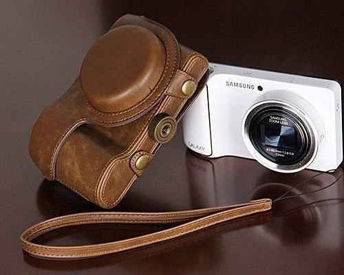 Funda de piel de imitación cámara, PU bolsa para cámara Samsung Galaxy...