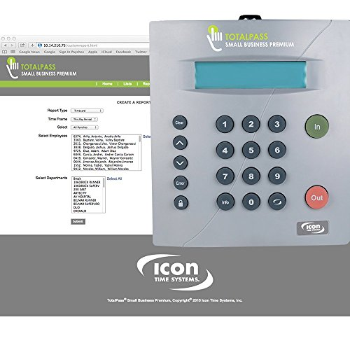 Icon Time Systems TotalPass Small Business Premium • Proximity Time Clock