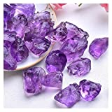XIONGHAIZI Natural Crystal Mixed Stone Amethyst Tumbled Chips Crushed Stone Healing Crystal Jewelry Making Home Decor Or Fish Tank Stone (Color : Amethyst, Size : 20g)