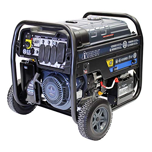 A-ITECH AT10-212001 12000 Watt Portable Dual Fuel Generator with Electric Start, CARB Compliant
