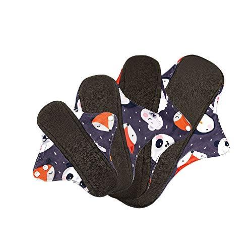 HXLFYM 8pcs 4 Tamaño De La Almohadilla Menstrual Lavable, Almohadillas Sanitarias Reutilizables Paño De Algodón De Bambú Pantalón De Higiene Femenino Pantalón Toalla Posparto Nappy