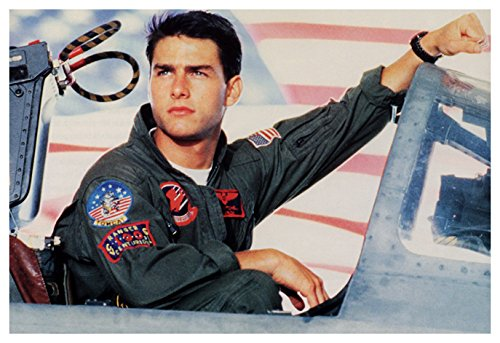 Top Gun Poster, Maverick, Tom Cruise, Fighter Piolt, Classic 1980's Movie